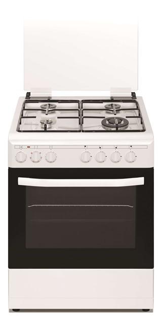 תנור אפיה משולב גז מפואר NEON לבן דגם NE-GO 6060W