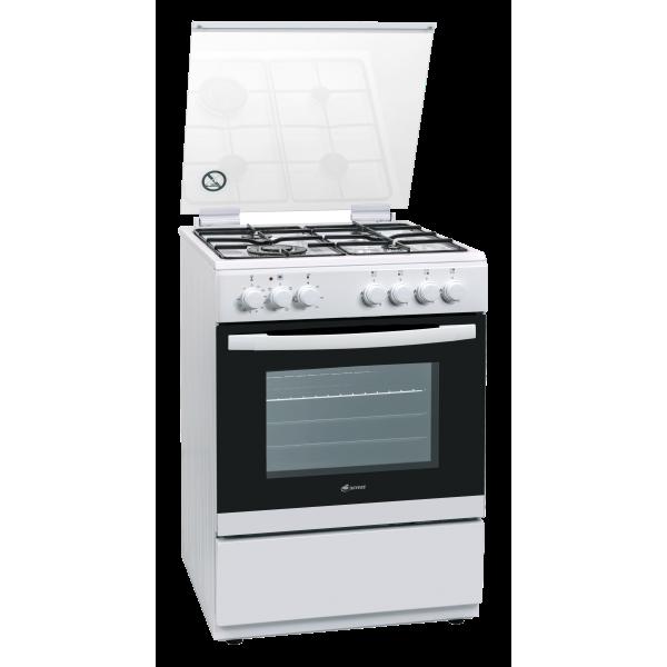 תנור אפיה משולב גז מפואר תוצרת אירופה מבית BAYERE דגם: BA 6363 לבן